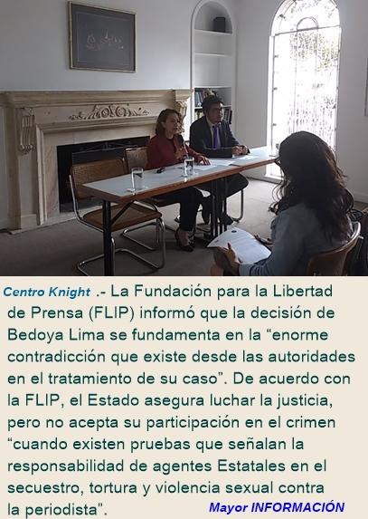 Periodista colombiana Jineth Bedoya devuelve indemnización que recibió como víctima del conflicto a