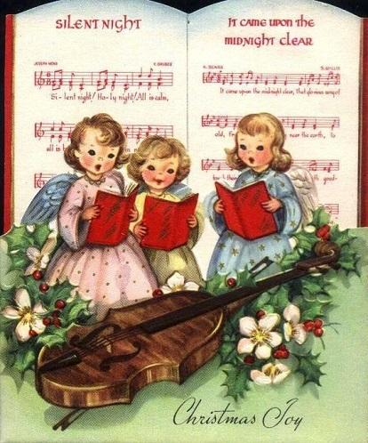 vintage carol card