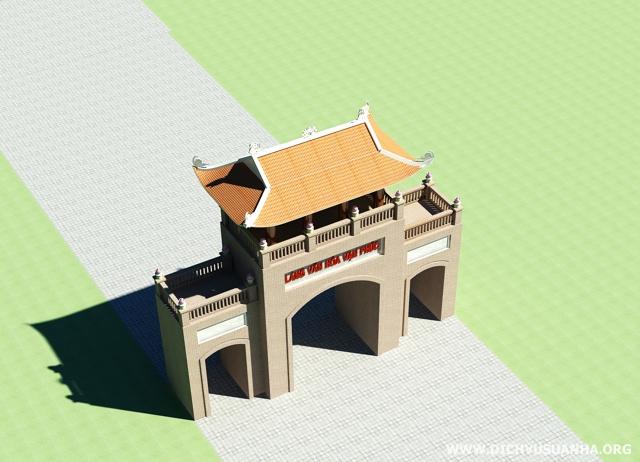 bản vẽ thiết kế cổng làng đẹp