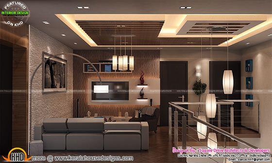 Upper living interior design
