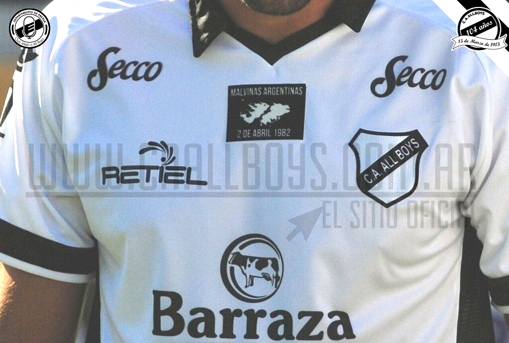 38c95b7ce3be1 All Boys usará camisa em homenagem as Malvinas - Show de Camisas