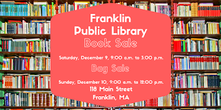Franklin Public Library Book Sale, December 9-10