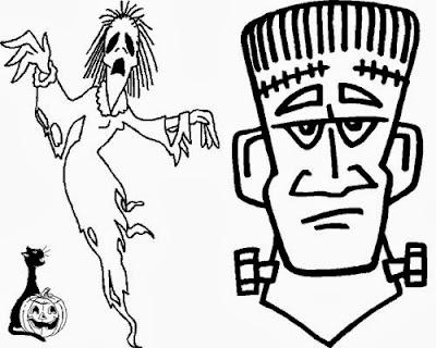 Maestra de primaria monstruos para colorear en halloween - Imagenes de halloween ...