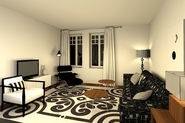 bcc coaching deco en ligne r novation en noir et blanc. Black Bedroom Furniture Sets. Home Design Ideas