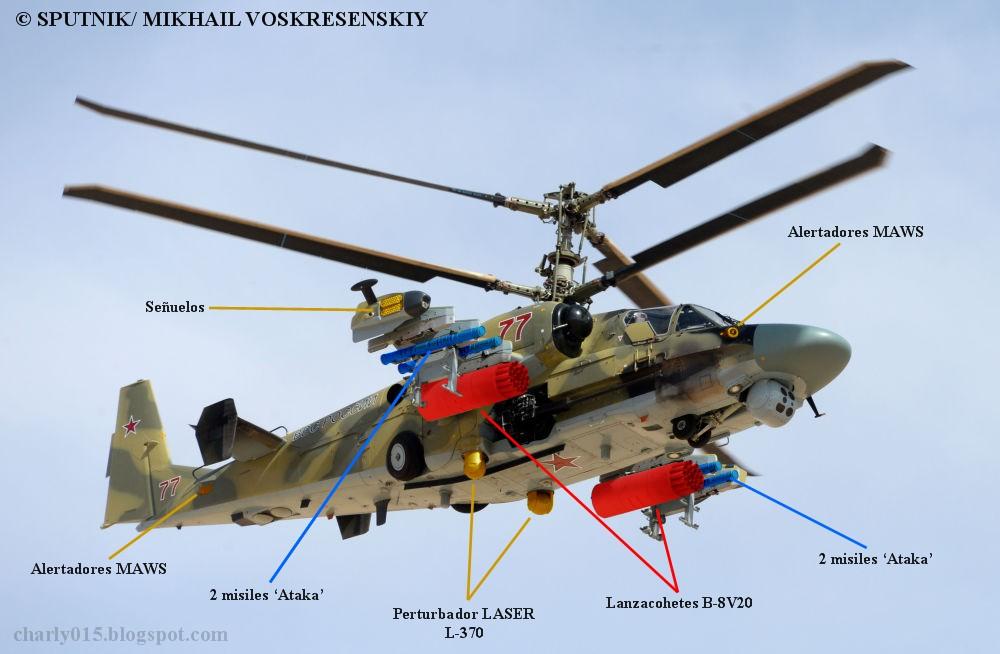 Kamov Ka-52 Alligator: el nuevo carro del infierno - Página 3 Ka-52%2Bequipos%2Bsiria