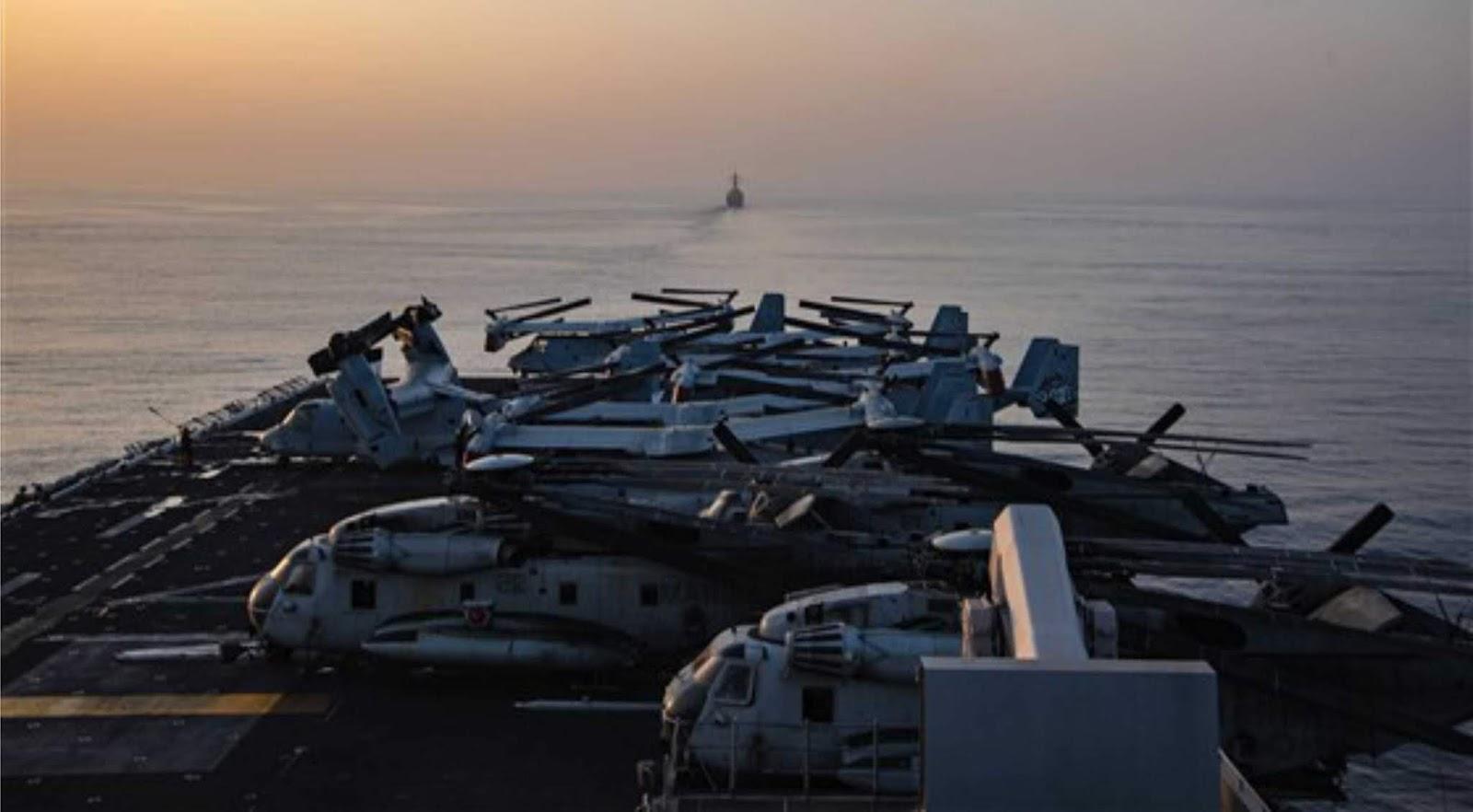 Kapal Iran melakukan manuver 300 meter dari  kapal perang AS di Teluk Persia