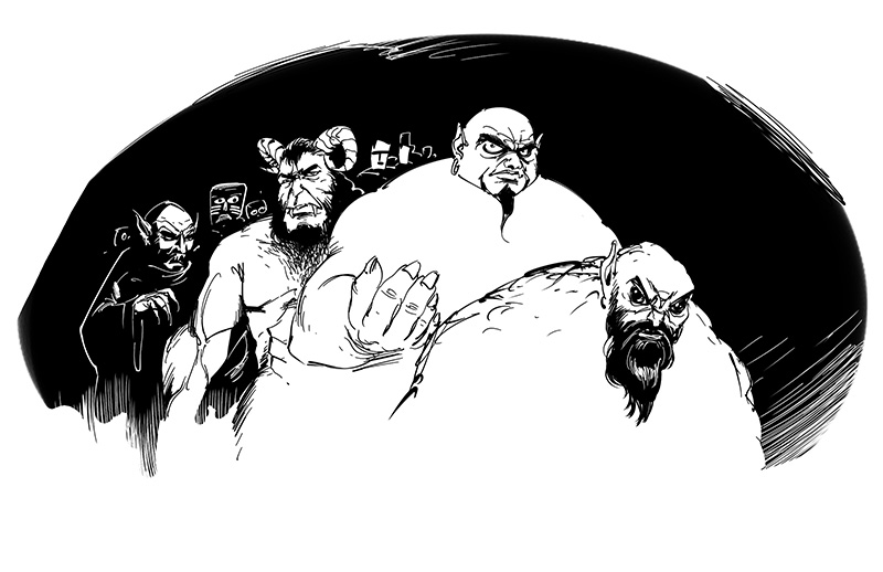 horror illustration jinn and demigods