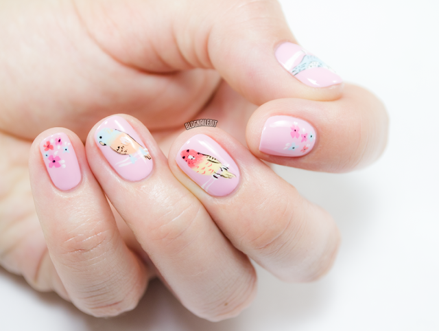 Pretty Parakeets by Katy @ Nailed It www.blognailedit.co