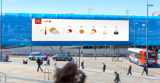 McDonald's turned popular menu items into weather icons for real-time billboards