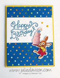 Stampin' Up! Birthday Delivery + Birthday Memories Bunny Card ~ www.juliedavison.com