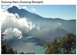 Gunung Barujari di Lombok Utara