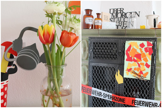 Feuerwehr Geburtstag Kindergeburtstag Feuerwehrmann Sam Jules kleines Freudenhaus Photobooth