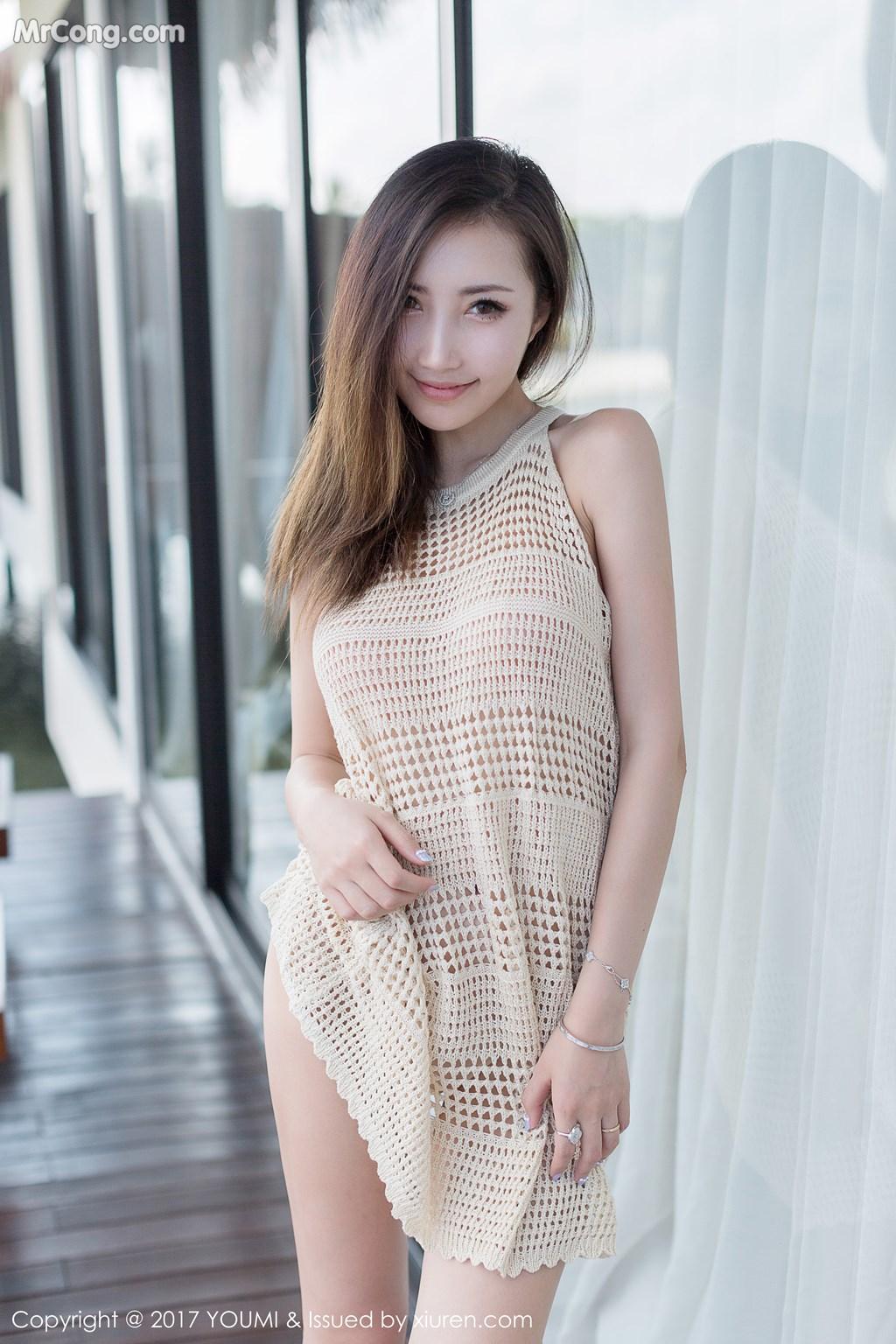 Image YouMi-Vol.100-Yumi-MrCong.com-009 in post YouMi Vol.100: Người mẫu Yumi (尤美) (42 ảnh)