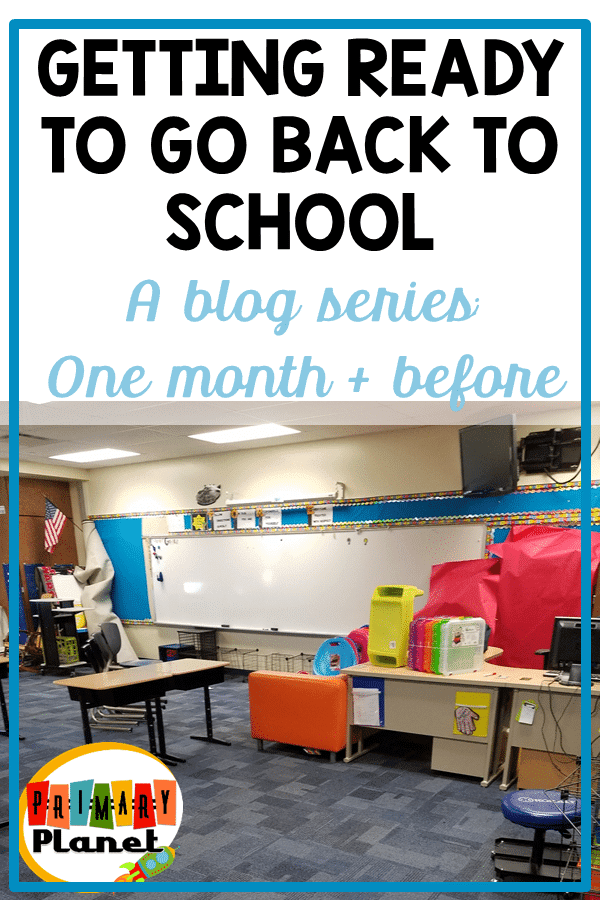 What I am doing now (still more than a month of summer vacation to go!) to get ready to go back to school!  Click for a freebie to help!
