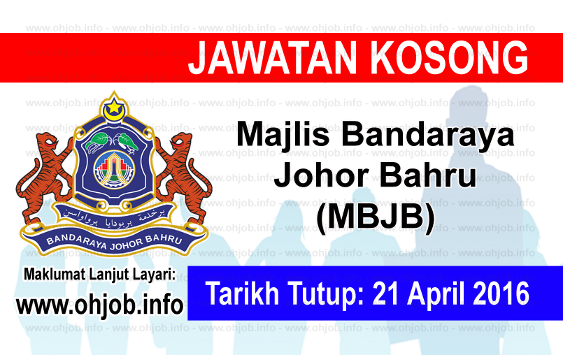 Jawatan Kerja Kosong Majlis Bandaraya Johor Bahru (MBJB) logo www.ohjob.info april 2016