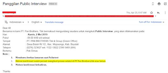 email panggilan public interview