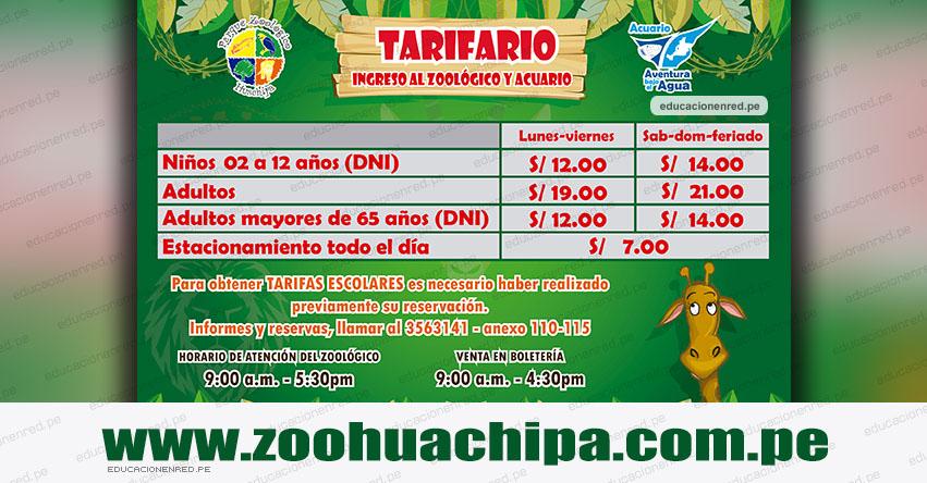 Parque Zoológico de Huachipa - Precio de Entradas [TARIFA ACTUALIZADO 2019] www.zoohuachipa.com.pe