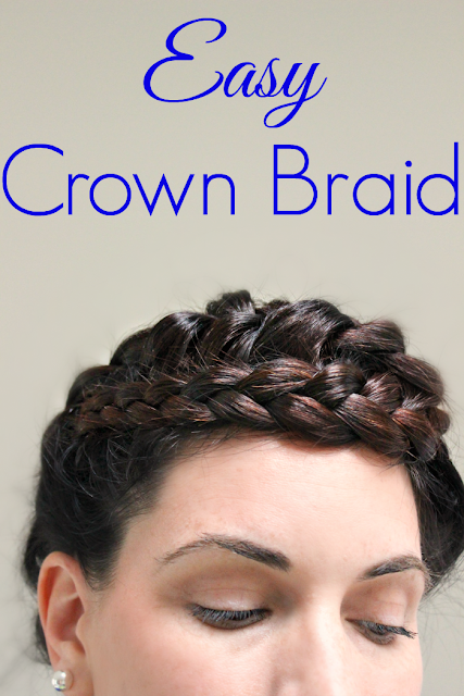 How to do an Easy Crown Braid Tutorial - perfect for medium to long hair, and looks great on blondes and brunettes