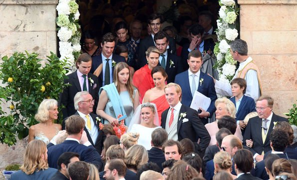 Grand Duke Henri and Grand Duchess Maria-Teresa, Grand Duke Guillaume and Grand Duchess Stephanie, Prince Guillaume and Princess Sibilla, Princess Claire and Prince Felix and Gabriel and Noah, Prince Amedeo and Princess Maria Laura of Belgium