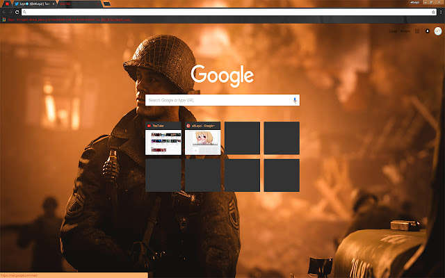 COD WWII Reveal PS4 Theme Free Theme FOR Chrome 2017