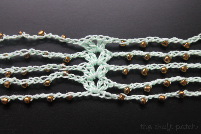 Beaded crochet necklace tutorial