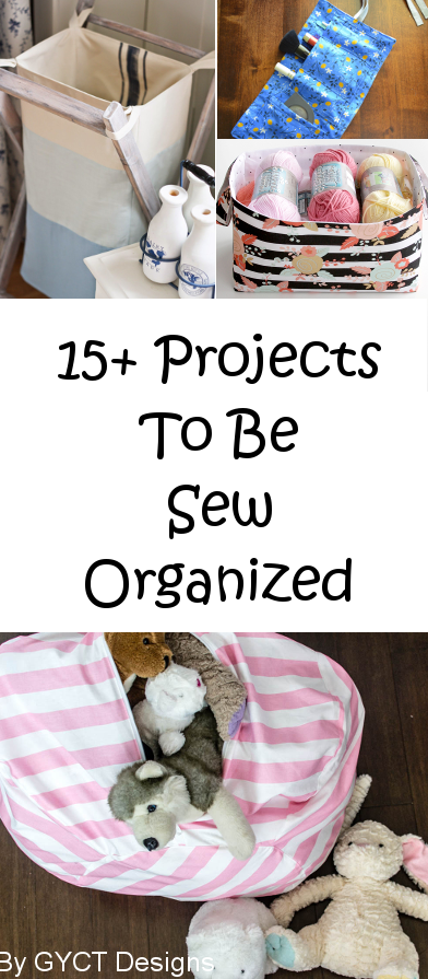 Round up of Sewing Projects to help Organize Your Home