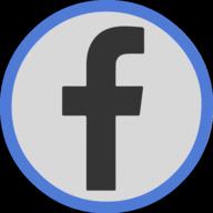 facebook button outline