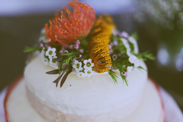 romantic wedding cakes melbourne native flowers