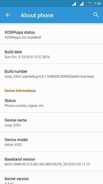 [ROM] XOSP V 6.3 For Infinix X551 [NOTE/NOTE PRO]