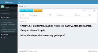 Cara Login Website EMIS PTK