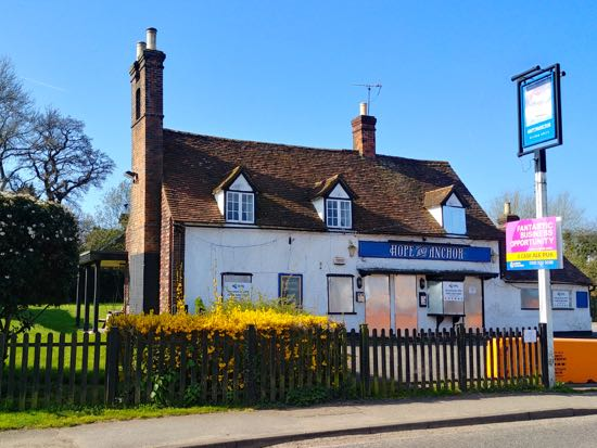 The Hope and Anchor, Station Road, Welham Green - 1 April, 2019  Image by North Mymms News, released under Creative Commons BY-NC-SA 4.0