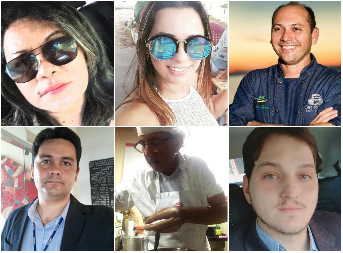 Holofotes em 6 VIPs. Samuel, Pedro Paulo, Rosiane Coelho, Geibber, Gleicy Lira e Saulo