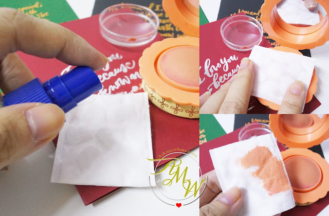 a photo on how to sanitize cream blush
