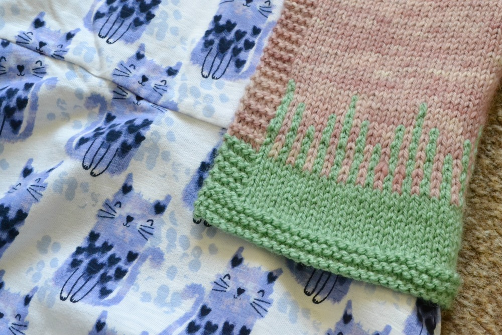 toddler cardigan yoke drips design colourwork baa baa brighouse brew clifton yarn pink green knitted baby cat dress george asda