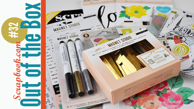 Out of the box 32: unboxing video the Crate Paper and Maggie Holmes Magnet Studio. #unboxing #jengallacher #scrapbookdotcom
