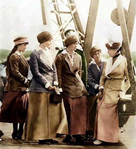 Anastasia, Tatiana, Olga, Maria