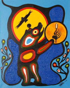 Rythmes, Art : ©Bear Drum, Frank Polson, Anishinabe, 2013