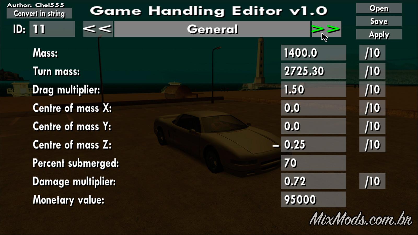 Game Handling Editor - | MixMods | Mods para GTA SA e outros
