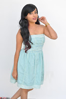 Sahana New cute Telugu Actress in Sky Blue Small Sleeveless Dress ~  Exclusive Galleries 029.jpg