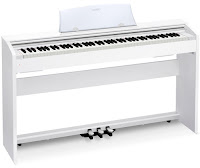 picture of white digital piano