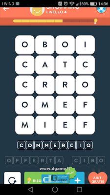 WordBrain 2 soluzioni: Categoria Shopping (4X5) Livello 4