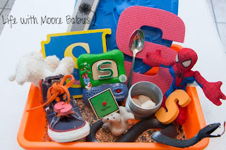How to Make a Letter S Sensory Bin