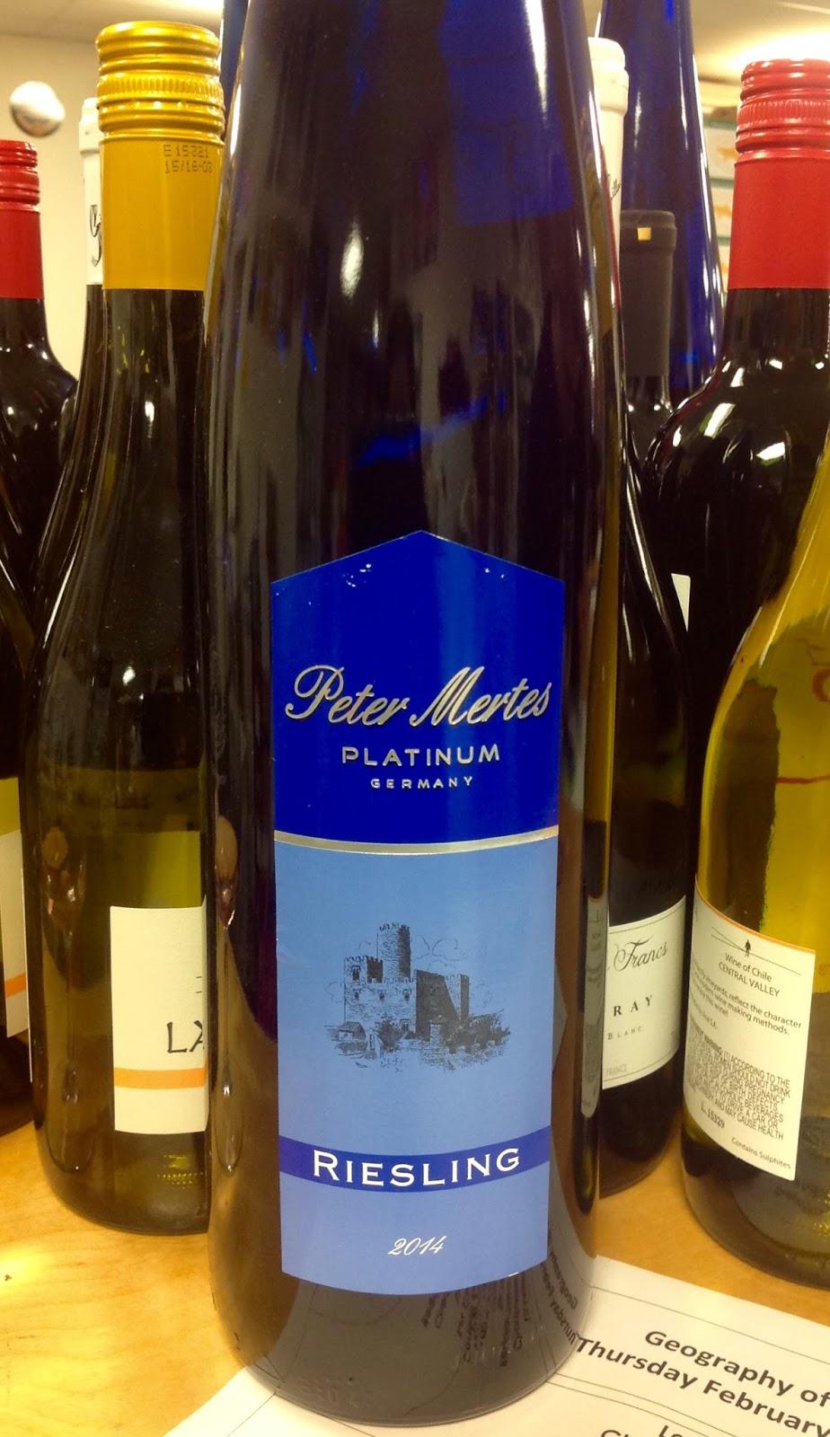 Tasting Peter Mertes Platinum Riesling Magnum