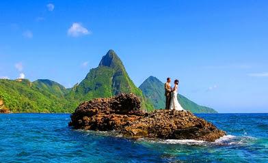 honeymoon destinations - st-lucia