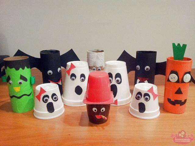Reciclagem para Halloween
