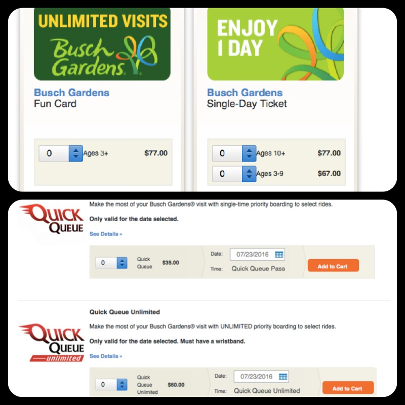 (1a) LINE CUTTING TICKETS Because Letu0027s Be Honest: Thatu0027s What These Are. Busch  Gardens: For A Saturday In July (peak Pricing), Its $35pp To Cut The Line  ...