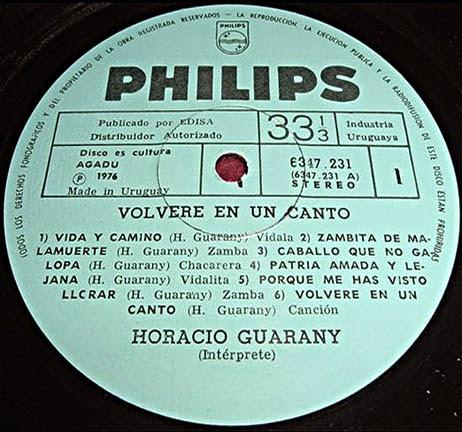 horacio guarany volvere en un canto disco