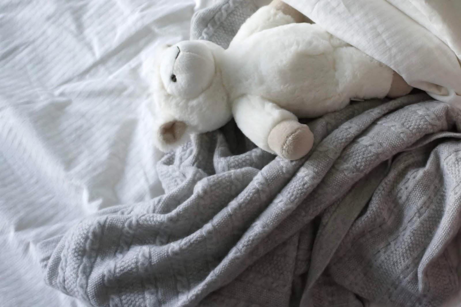 grey cashmere baby blanket