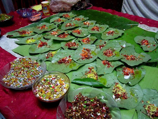 Raja Paan - betel-leaf that is exclusively prepared for the occasion