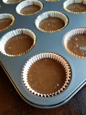 devilishly good chocolate cupcake batter in papers